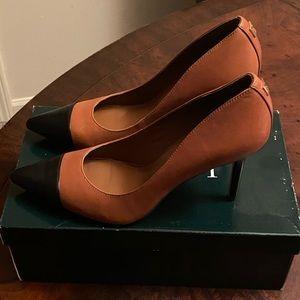 Ralph Lauren Shoes - Ralph Lauren Brown and Black 3 inch heels.